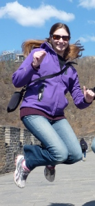 Jumping for joy!  I'm not currently on the Great Wall of China but you get the idea!