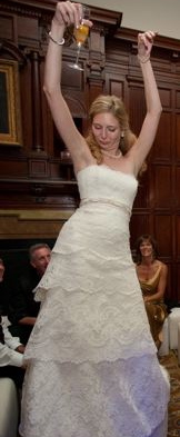 Here is one example of me doing a Happy Dance at my wedding.  Yes, it is almost always awkward and often involves booze!