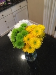 Thank you flowers from a friend, they just made me really happy so I thought they fit this post!